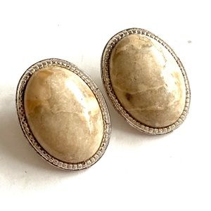 Vintage Genuine Stone Earrings